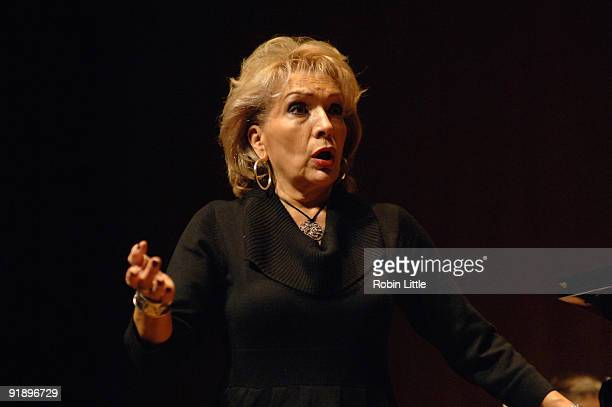 Nelly Miricioiu rehearses for her performance on stage at Purcell Room on October 14 2009 in London England