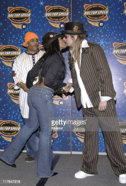 NellyJanet Jackson and Kid Rock during The AOL TopSpeed Super Bowl XXXVIII Halftime Show Produced by MTV Press Conference at George Brown Convention...