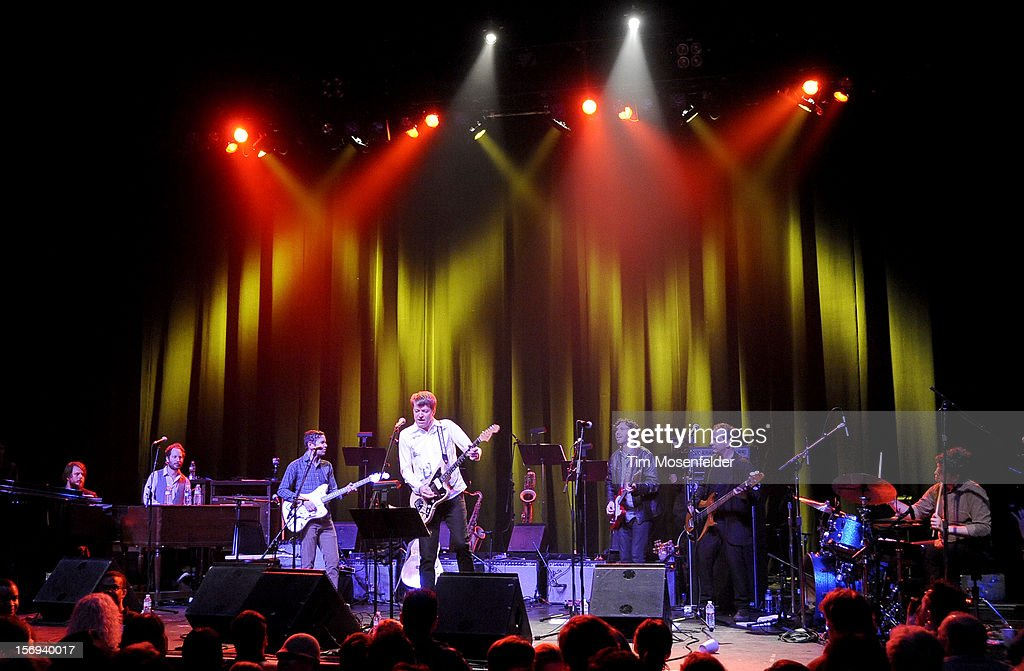 Nels Cline of Wilco and the tribute band perform during the Last Waltz Tribute Concert at The Warfield on November 24, 2012 in San Francisco, California.