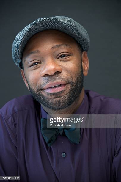 Nelsan Ellis at the 'Get On Up' Press Conference at the Mandarin Oriental Hotel on July 21 2014 in New York City