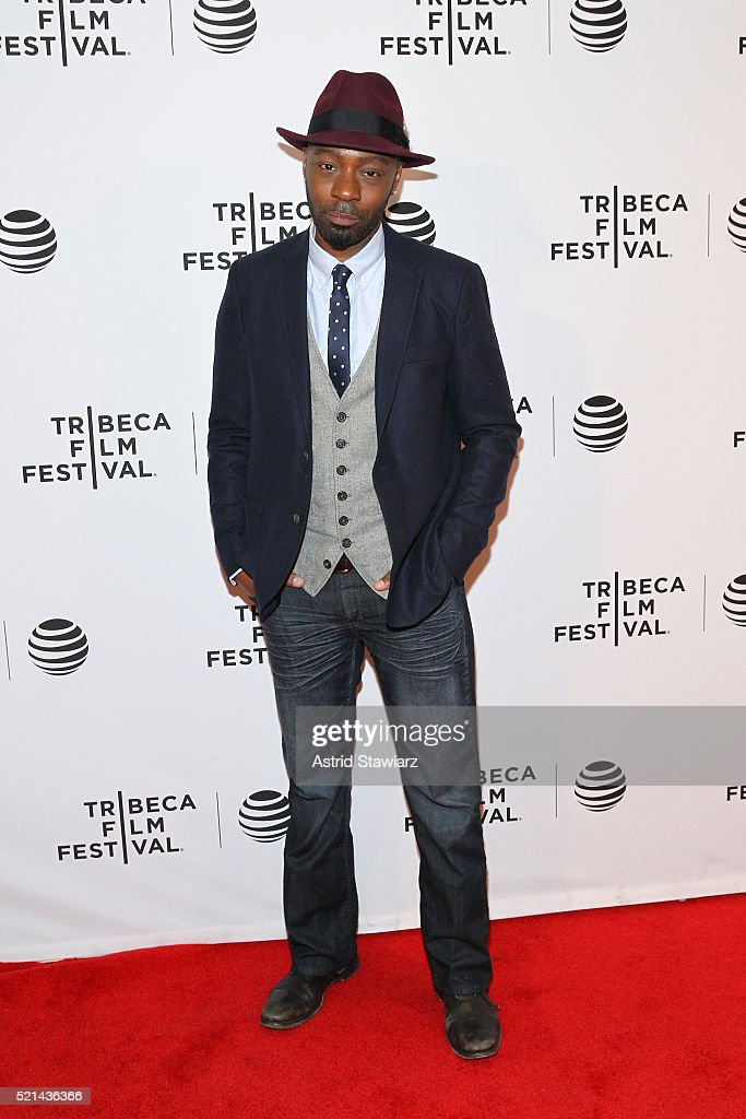 Nelsan Ellis attends 'Little Boxes' Premiere 2016 Tribeca Film Festival at Chelsea Bow Tie Cinemas on April 15 2016 in New York City