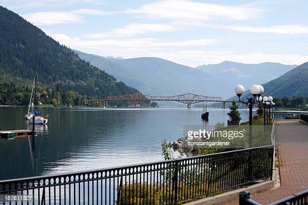 Nelson British Columbia Scenic From Lakeside Walkway