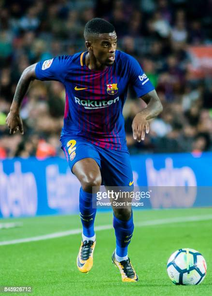 Nelson Cabral Semedo of FC Barcelona in action during the La Liga match between FC Barcelona vs RCD Espanyol at the Camp Nou on 09 September 2017 in...