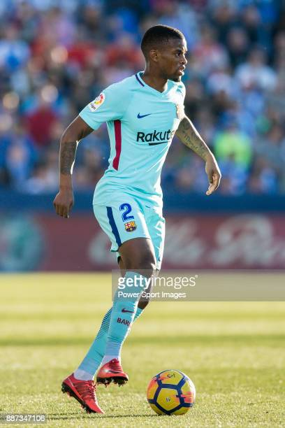Nelson Cabral Semedo of FC Barcelona in action during the La Liga 201718 match between CD Leganes vs FC Barcelona at Estadio Municipal Butarque on...