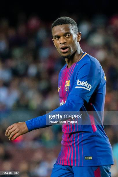 Nelson Cabral Semedo of FC Barcelona looks during the La Liga 201718 match between FC Barcelona and SD Eibar at Camp Nou on 19 September 2017 in...
