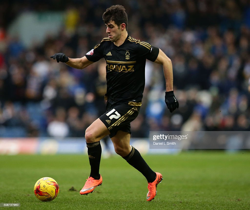 Nelson Castro Oliveira of Nottingham Forest FC during during the Sky Bet Championship match between Leeds United and Nottingham Forest on February 6, 2016 in Leeds, United Kingdom.