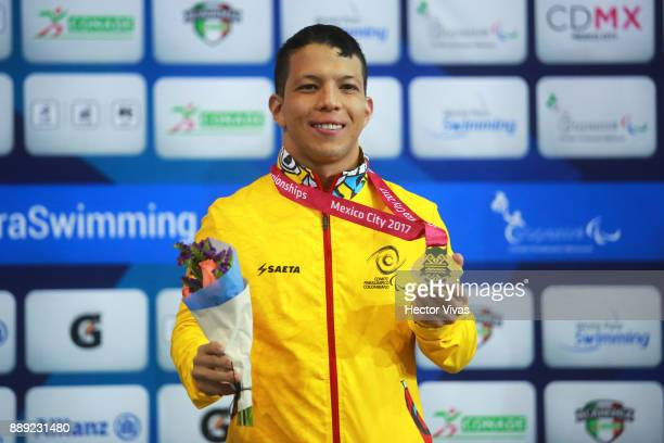Nelson Crispin of Colombia wins Gold Medal in men's 200 m Individual Medley M6 during day 7 of the Para Swimming World Championship Mexico City 2017...
