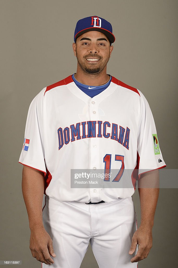 Nelson Cruz #17 of Team Dominican Republic poses for a headshot for the 2013 World Baseball Classic on March 4, 2013 at George M. Steinbrenner Field in Tampa, Florida.