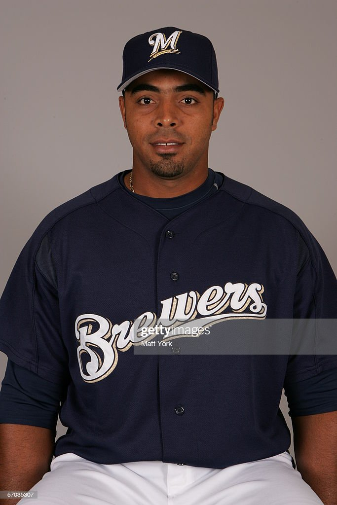 Nelson Cruz of the Milwaukee Brewers during photo day at Maryvale Stadium on February 27 2006 in Maryvale Arizona