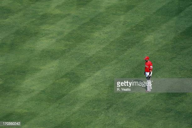Nelson Cruz of the Texas Rangers in action against the Kansas City Royals at Rangers Ballpark in Arlington on June 1 2013 in Arlington Texas