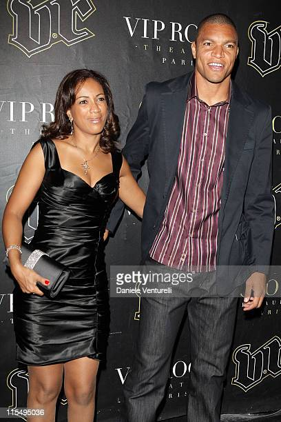 Nelson de Jesus da Silva and wife attends the John Richmond Party as part of the Paris Womenswear Fashion Week Spring/Summer 2010 at the VIP Room...