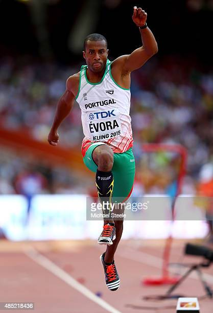 Nelson Evora of Portugal competes in the Men's Triple Jump qualification during day five of the 15th IAAF World Athletics Championships Beijing 2015...