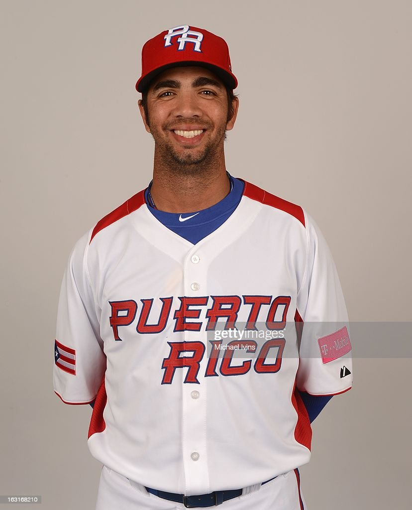 Nelson Figueroa #27 of Team Puerto Rico poses for a headshot for the 2013 World Baseball Classic at the City of Palms Baseball Complex on Monday, March 4, 2013 in Fort Myers, Florida.