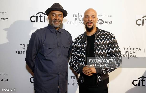 Nelson George and Common attend Tribeca Talks Storytellers Common With Nelson George during the 2017 Tribeca Film Festival at Spring Studios on April...