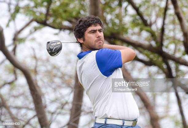 Nelson Ledesma of Argentina tees off on the fifth hole during the second round of the PGA TOUR Latinoamerica Essential Costa Rica Classic at Reserva...
