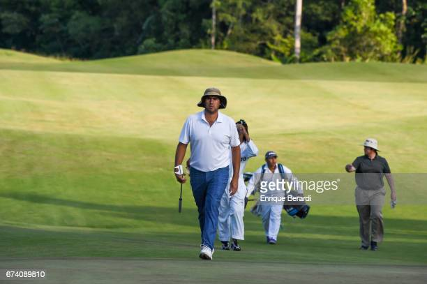Nelson Ledesma of Argentina walks up the sixth hole during the second round of the PGA TOUR Latinoamérica Honduras Open presented by Indura Golf...