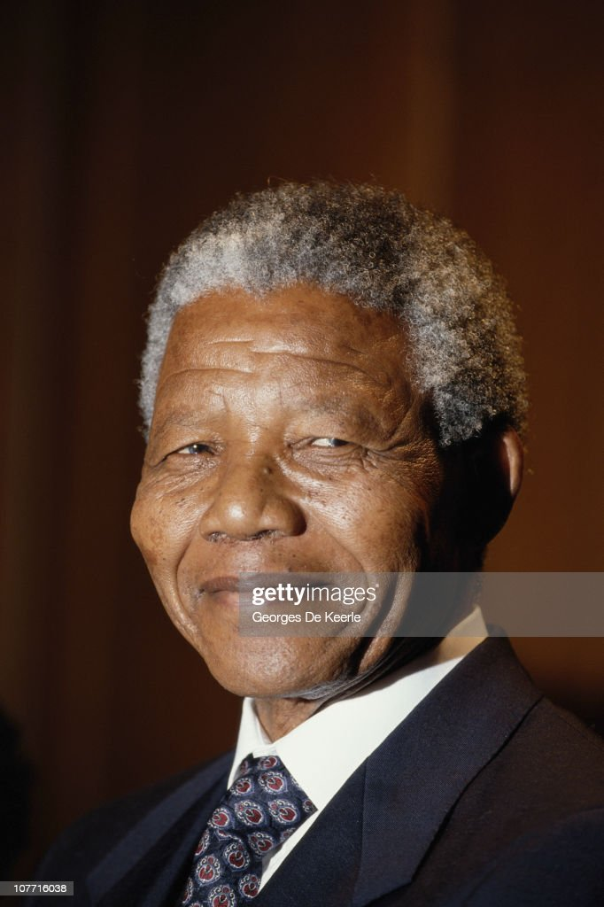 Nelson Mandela at 10, Downing Street, London, 4th July 1990.