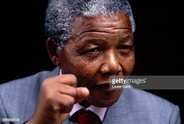 Nelson Mandela at home on the day after his release from prison after 26 years The former President of South Africa and longtime political prisoner...
