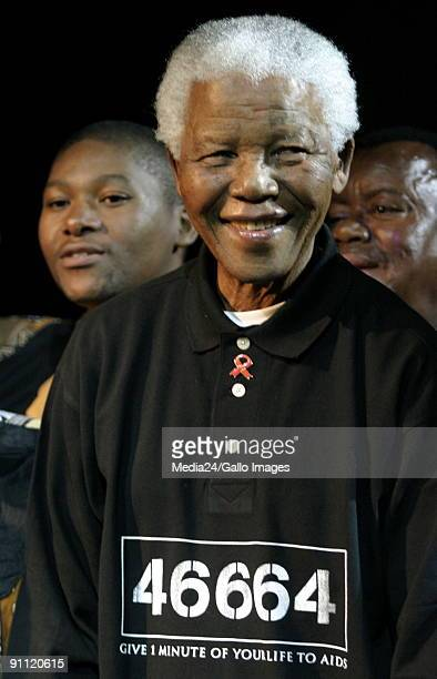 Nelson Mandela at the launch of the 46664 CD and DVD at Kilimanjaro in Melrose Arch