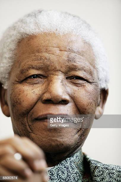 Nelson Mandela attends a photocall ahead of tonight's '46664 Arctic' concert at the Rica Hotel on June 11 2005 in Tromso Norway The fourth concert...