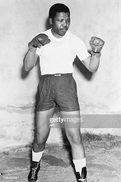 Nelson Mandela boxing gloves in 1952