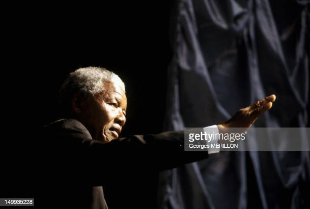 Nelson Mandela Campaigning on March 15 1994 in South Africa