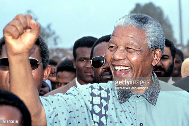 Nelson Mandela just before the first national elections in 1994 South Africa