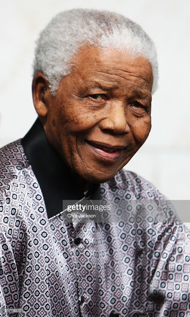 Nelson Mandela leaves the InterContinental Hotel after a photoshoot with celebrity photographer Terry O'Neil on June 26, 2008 in London, England. Mandela is in London in advance of the 46664 concert being held at Hyde Park on Friday the 27th June to celebrate Nelson Mandela's 90th Birthday.