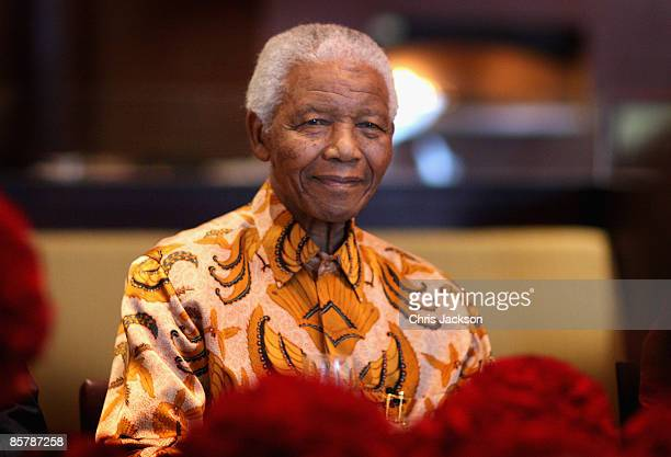 Nelson Mandela smiles during a lunch to Benefit the Mandela Children's Foundation as part of the celebrations of the opening of the new OneOnly Cape...