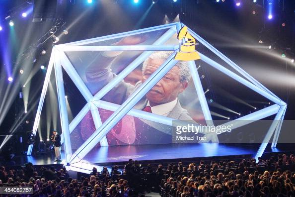 Nelson Mandela tribute at the GRAMMY Nominations Concert Live held at Nokia Theatre LA Live on December 6 2013 in Los Angeles California