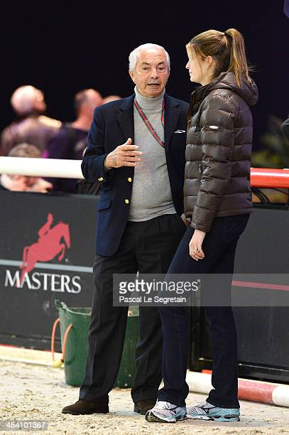 Nelson Pessoa and Athina Onassis attend the Gucci Paris Masters 2013 on December 7 2013 in Paris France