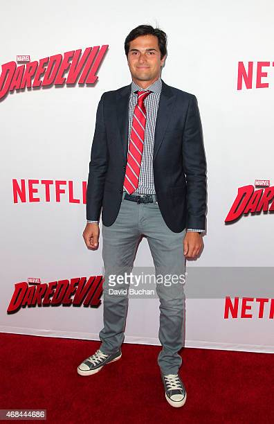 Nelson Piquet attends the premiere of Netflix's 'Marvel's Daredevil' at Regal Cinemas LA Live on April 2 2015 in Los Angeles California