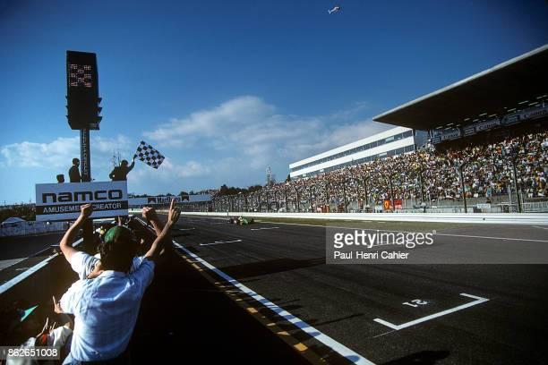 Nelson Piquet BenettonFord B190 Grand Prix of Japan Suzuka Circuit 21 October 1990 Nelson Piquet wins the 1990 Grand Prix of Japan in Suzuka