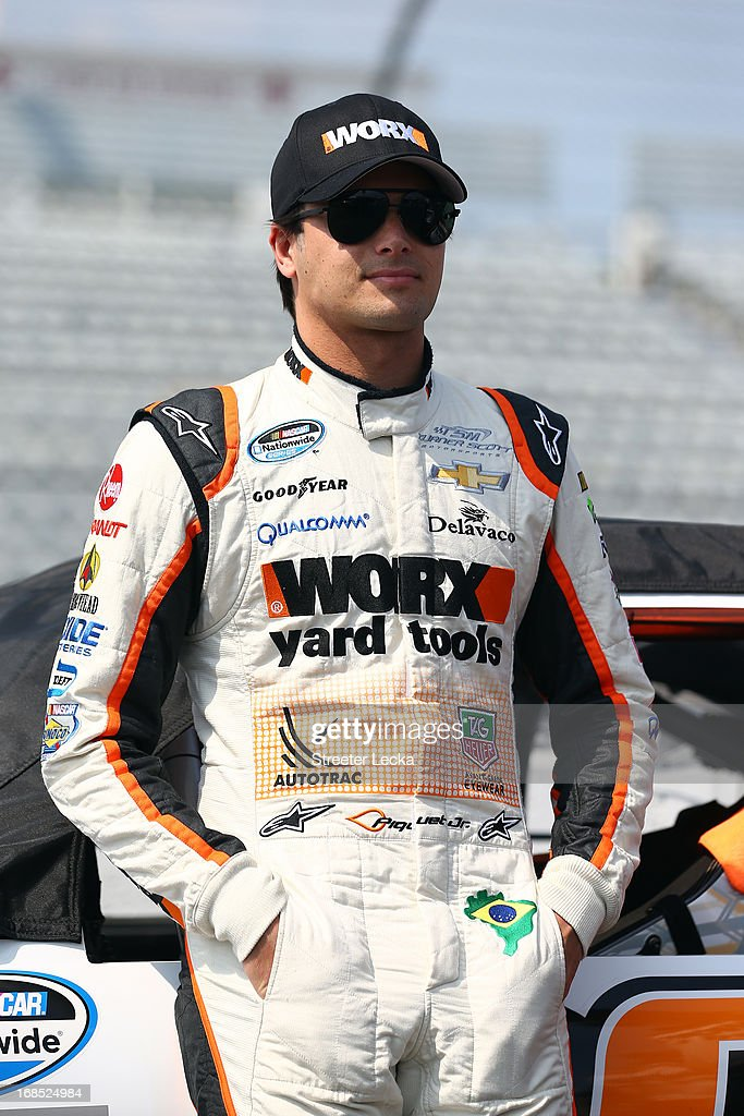 Nelson Piquet Jr., driver of the #30 WORX Chevrolet, look son during qualifying for the NASCAR Nationwide Series VFW Sport Clips Hero 200 at Darlington Raceway on May 10, 2013 in Darlington, South Carolina.