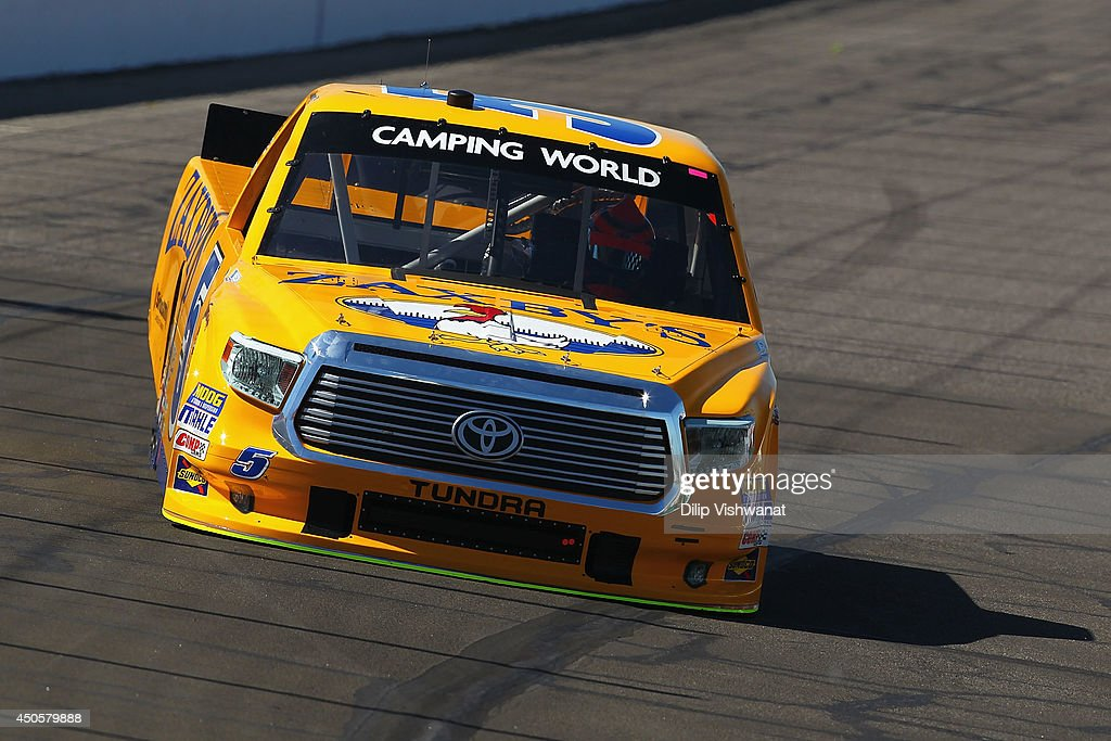 Nelson Piquet Jr drives the #5 Zaxby's Toyota during practice for the NASCAR Camping World Truck Series Drivin' for Linemen 200 at Gateway Motorsports Park on June 13, 2014 in Madison, Illinois.