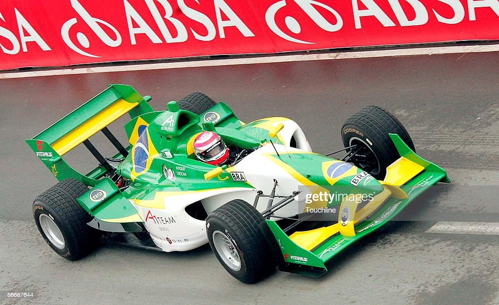 Nelson Piquet of Brazil and A1 GP Team Brazil in action during the South African A1 Grand Prix practise at the Durban street circuit on January 27 in...