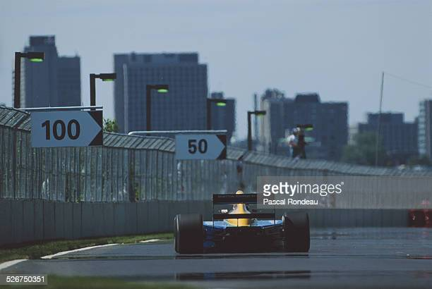 Nelson Piquet of Brazil drives the Camel Benetton Ford Benetton B191 during the Canadian Grand Prix on 2 June 1991 at the Montreal Circuit Gilles...
