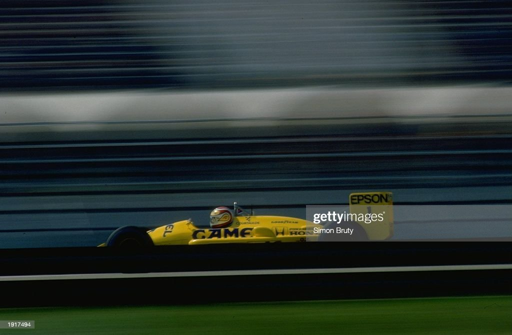 Nelson Piquet of Brazil in action in his Lotus Honda during the Brazilian Grand Prix at the Rio circuit in Brazil. Piquet finished in third place. \ Mandatory Credit: Simon Bruty/Allsport