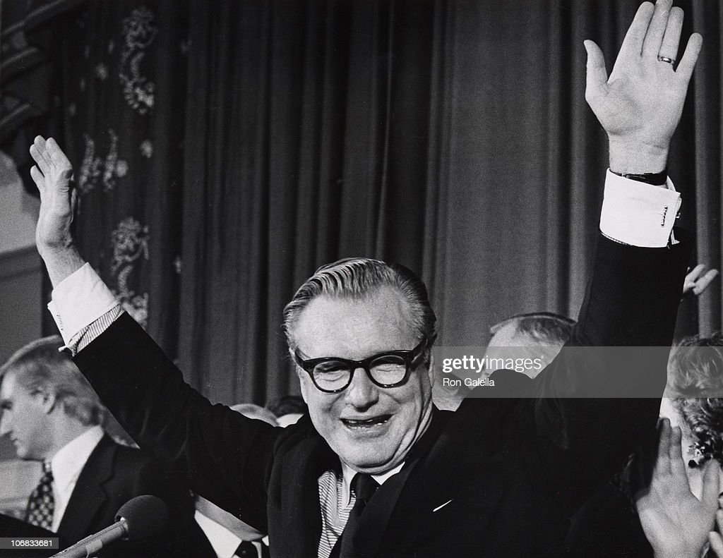 Nelson Rockefeller during Nelson Rockefeller Sighted on election night at the Roosevelt Hotel - October 7, 1973 at Roosevelt Hotel in New York City, New York, United States.