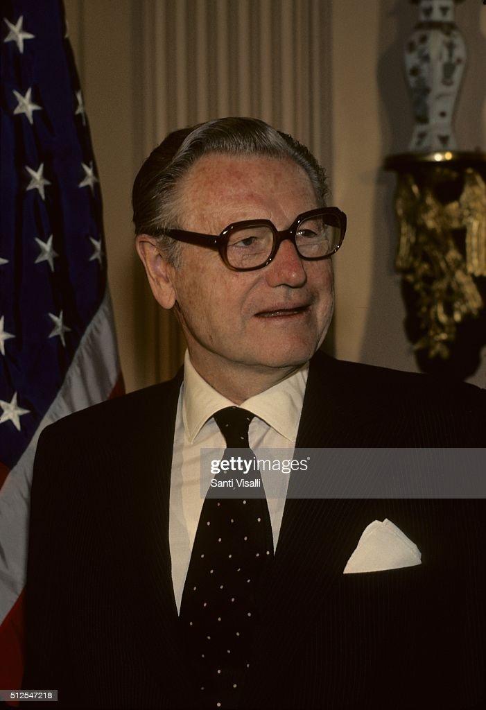 Nelson Rockefeller posing for a photo on January 7, 1976 in Washington DC, Washington.