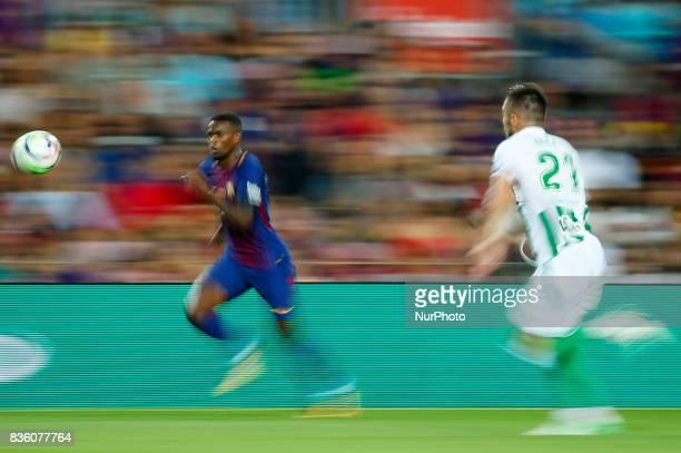 Nelson Semedo during La Liga match between FC Barcelona v Real Betis Balompie in Barcelona on August 20 2017 hoto Joan Valls/Urbanandsport/Nurphoto