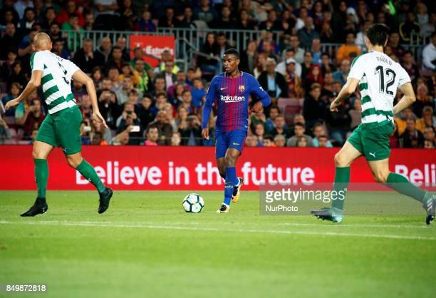 Nelson Semedo during La Liga match between FC Barcelona v SC Eibar in Barcelona on September 19 2017
