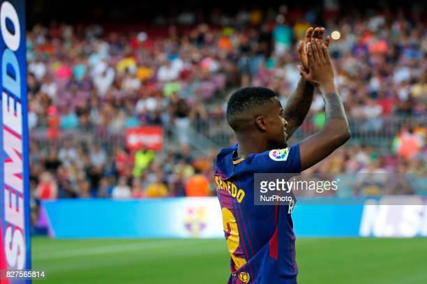Nelson Semedo during the presentation of the team 201718 in Barcelona on August 07 2017 Photo JoanValls/Urbanandsport/Nurphoto