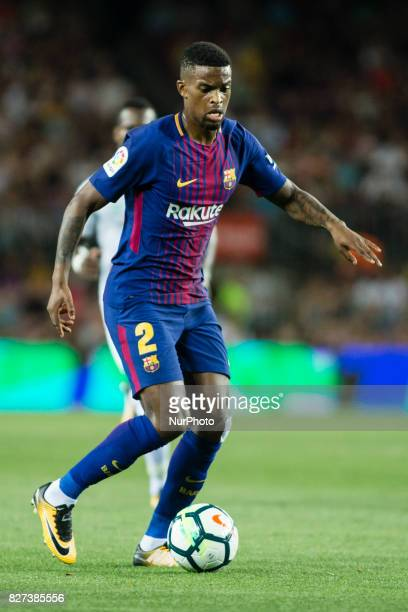 02 Nelson Semedo from Brasil of FC Barcelona during the Joan Gamper Trophy match between FC Barcelona vs Chapecoense at Camp Nou Stadium on August...
