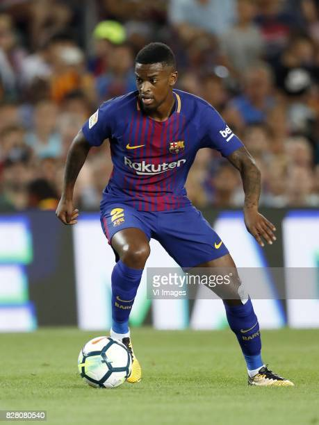 Nelson Semedo of FC Barcelona during the Trofeu Joan Gamper match between FC Barcelona and Chapecoense on August 7 2017 at the Camp Nou stadium in...