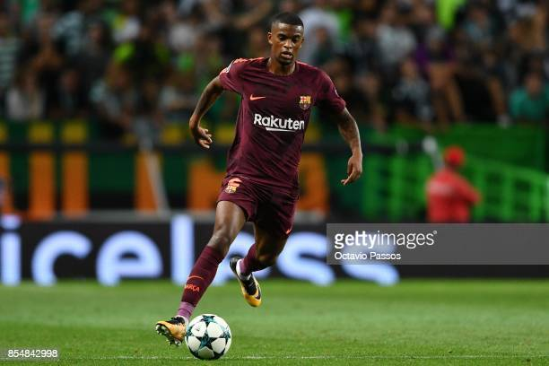 Nelson Semedo of FC Barcelona in action during the UEFA Champions League group D match between Sporting CP and FC Barcelona at Estadio Jose Alvalade...