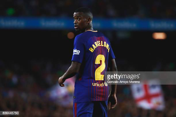 Nelson Semedo of FC Barcelona looks back during the La Liga match between FC Barcelona and Real Betis Balompie at Camp Nou stadium on August 20 2017...