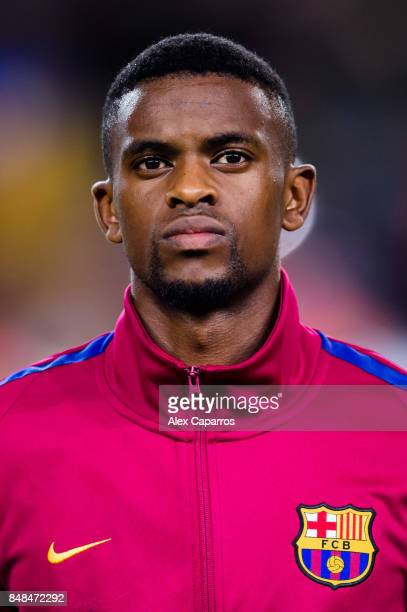 Nelson Semedo of FC Barcelona looks on before the UEFA Champions League group D match between FC Barcelona and Juventus at Camp Nou on September 12...