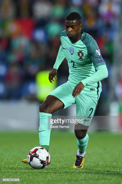 Nelson Semedo of Portugal runs with the ball during the FIFA 2018 World Cup Qualifier between Andorra and Portugal at the Estadi Nacional on October...