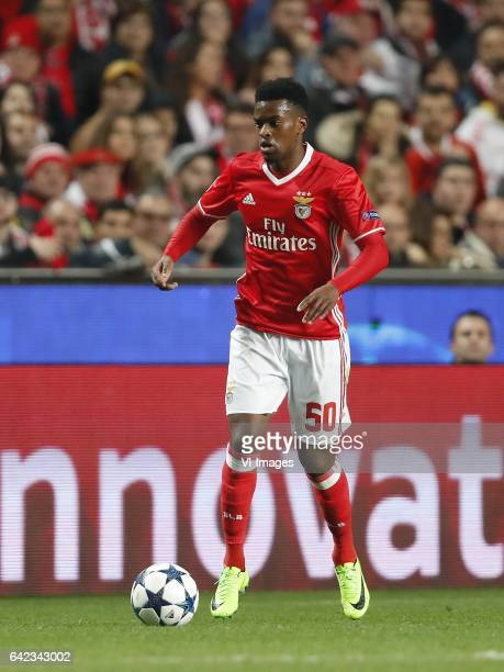 Nelson Semedo of SL Benficaduring the UEFA Champions League round of 16 match between SL Benfica and Borussia Dortmund on February 14 2017 at Estádio...
